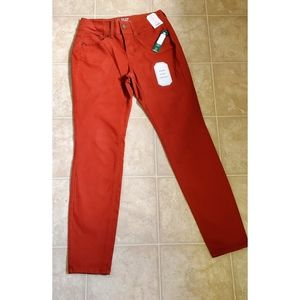 NEW No Bounds Burnt Red Mid Rise Skinny Jeans